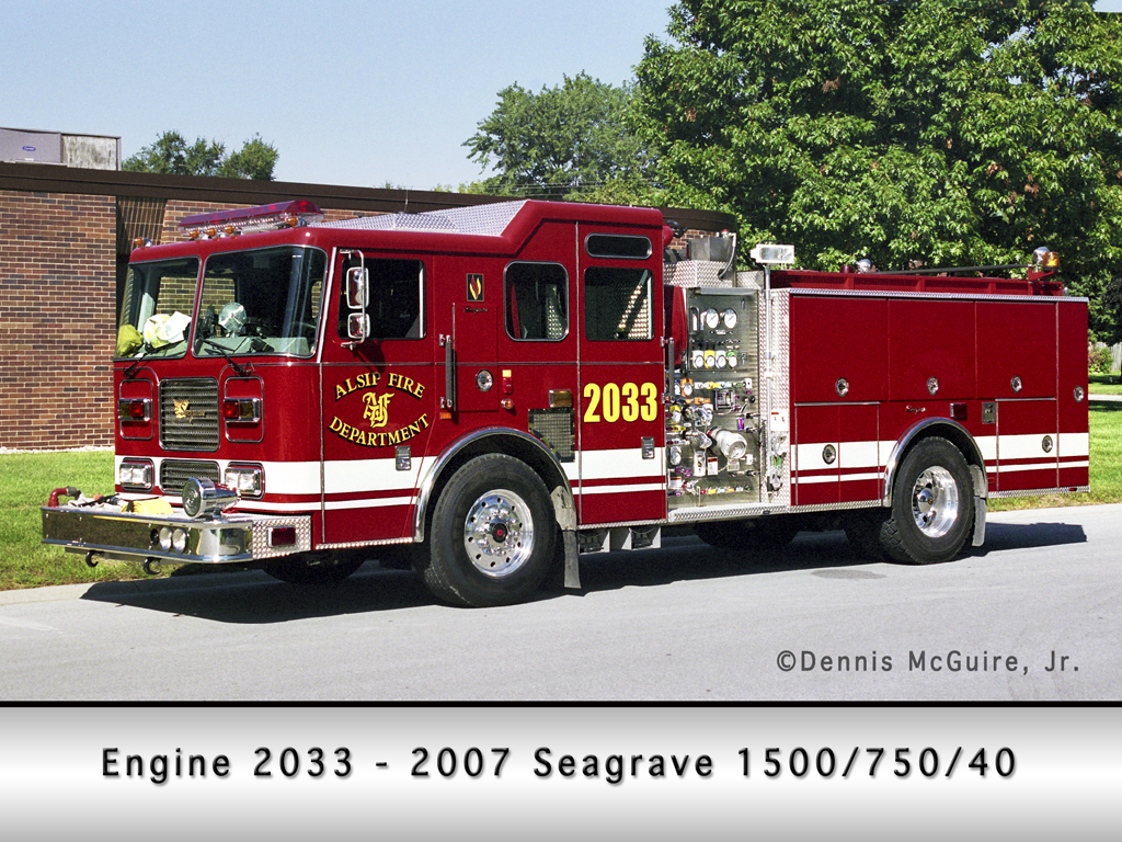 Alsip Fire Department Seagrave  Engine 2033