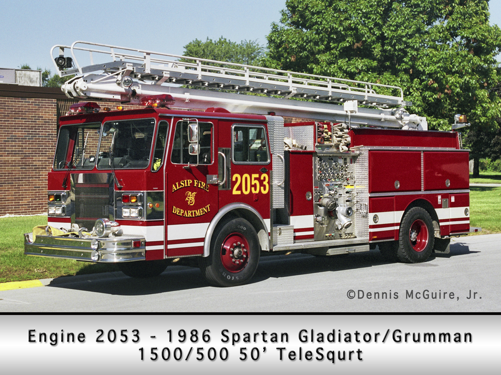 Alsip Fire Department Grumman TeleSqurt Engine 2053