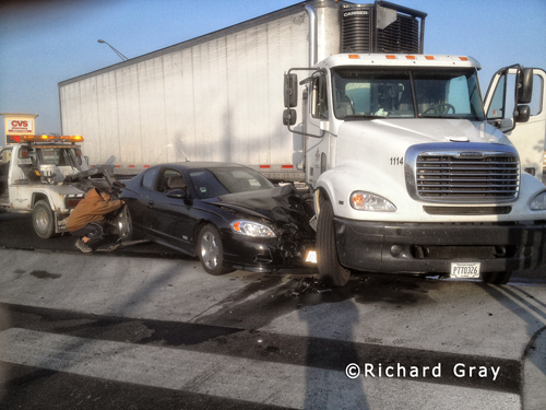 Accident on Harlem Avenue in Berwyn causes diesel fuel spill