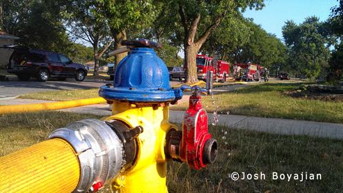 Basement fire in Brookfield IL 7-6-12
