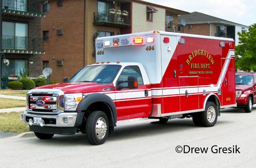 Bridgeview Fire Department ambulance