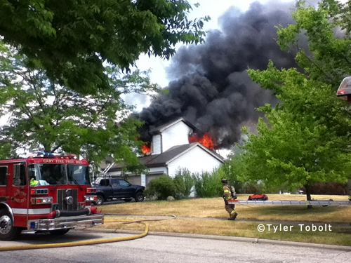 house fire in Cary IL 7-15-12