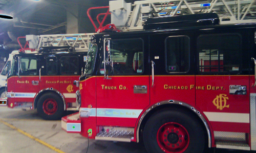 new aerial trucks for the Chicago Fire Department