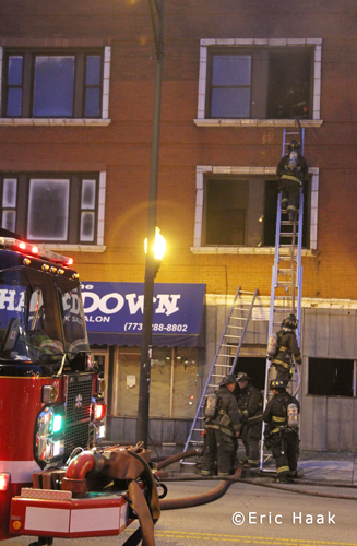 Chicago Fire Department apartment building 2-11 alarm fire 6427 S. Cottage Grove 7-8-12