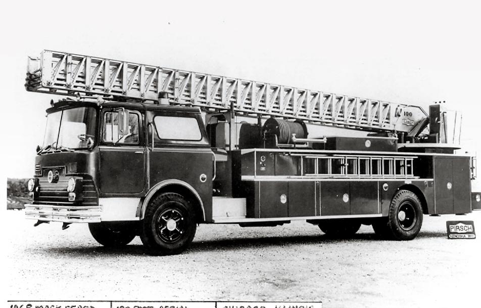 Chicago Fire Department 1968 Mack CF Pirsch aerial ladder