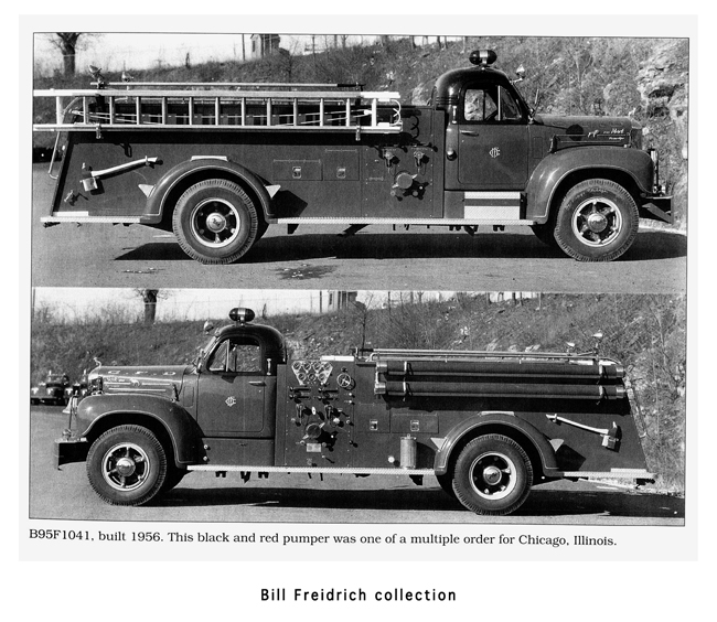 Chicago Fire Department Mack B-Model engine delivery photo