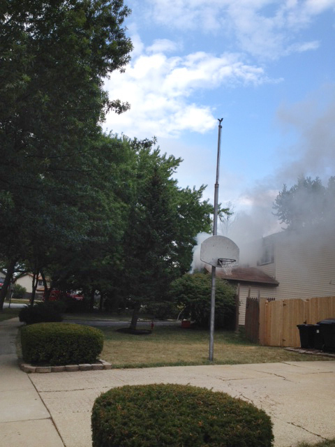 Frankfort Fire Department  house fire at 7361 Hickory Creek Dr. 7-9-12