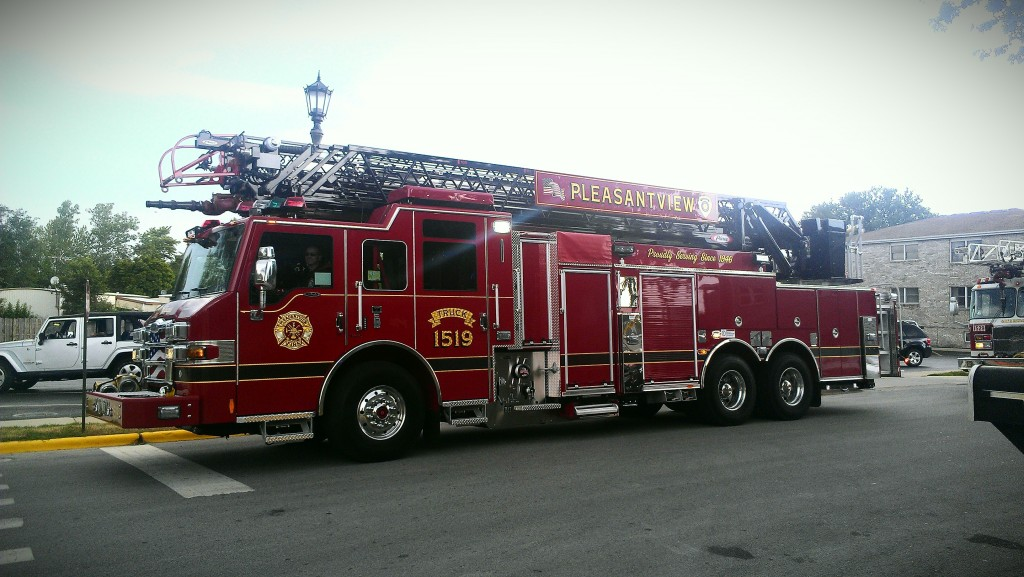 Pleasantview Fire Department new Pierce truck company