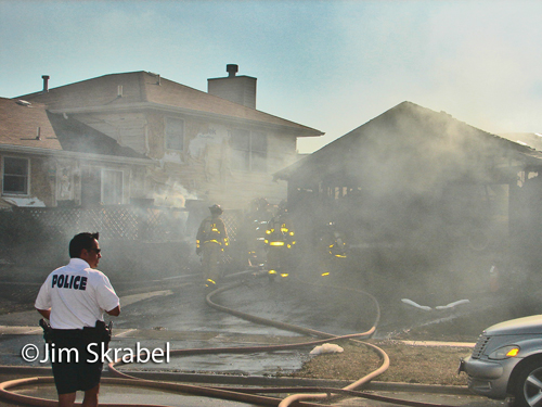 Joliet Fire Department house fire on Grantham Drive 7-17-12