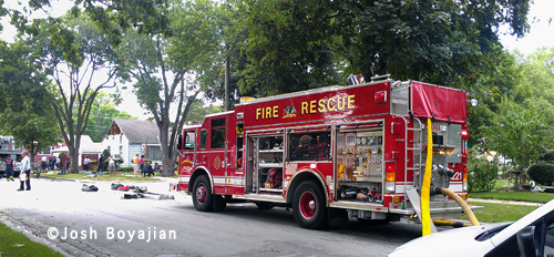 LaGrange Park house fire 7-24-12 at 1401 Newbury