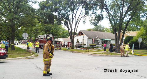 LaGrange Park house fire 7-24-12 at 1401 Newbury