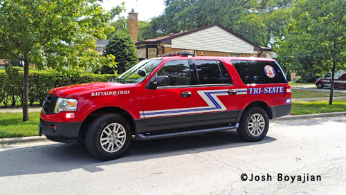 Tri-State Fire Protection District battalion chief vehicle