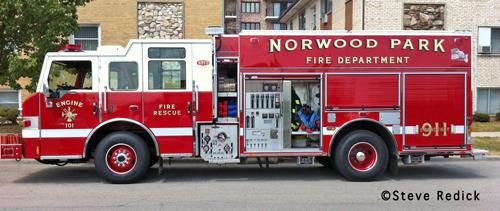 Norwood Park Fire Protection District Engine 101 Pierce Impel PUC