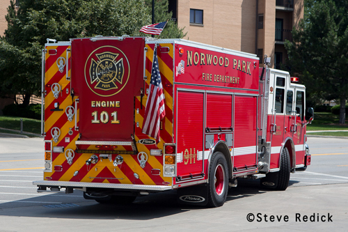 Norwood Park Fire Protection District Engine 101 Pierce Impel PUC