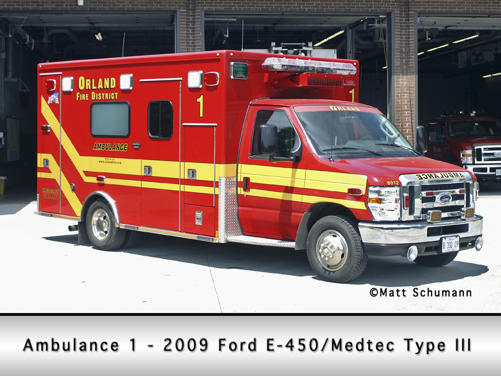 Orland Fire Protection District Ambulance 1
