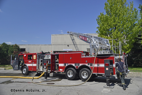 Blue Island Fire Department commercial fire on 127th Street 7-28-12