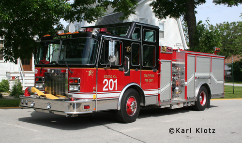 Tinley Park Fire Department Engine 201 Spartan Darley