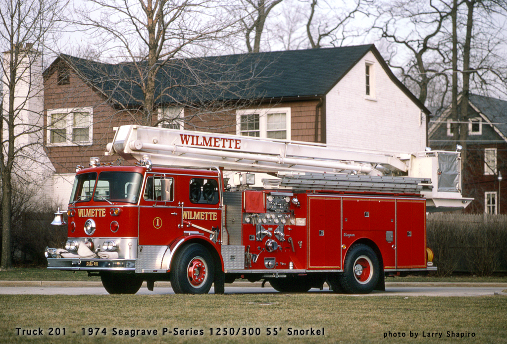 Wilmette Fire Department Seagrave Snorkel