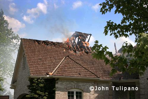 house fire on Tara Court in Wheaton 7-4-12