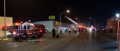 Cicero Fire Department Dollar General Store fire 7-3-12