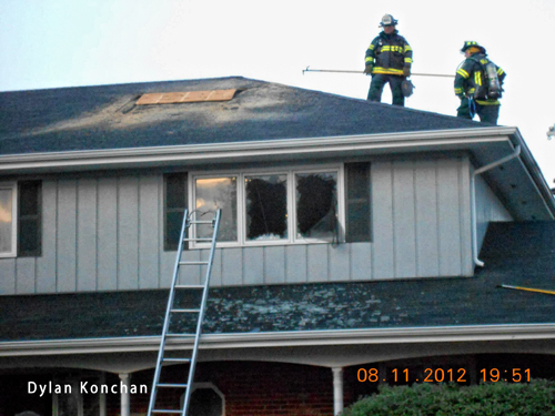 house fire in Orland Park  8-11-12