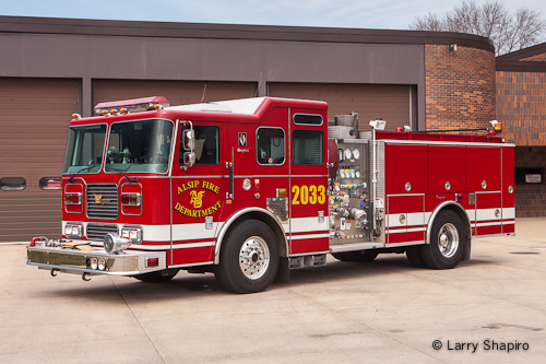 Alsip Fire Department Seagrave Marauder engine