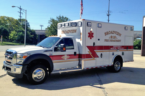 Broadview Fire Department new Wheeled Coach ambulance