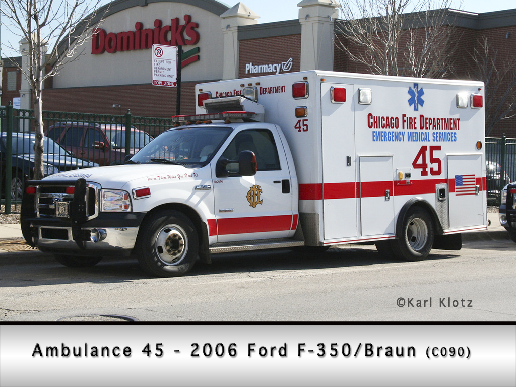Chicago Fire Department Ambulance 45 Braun