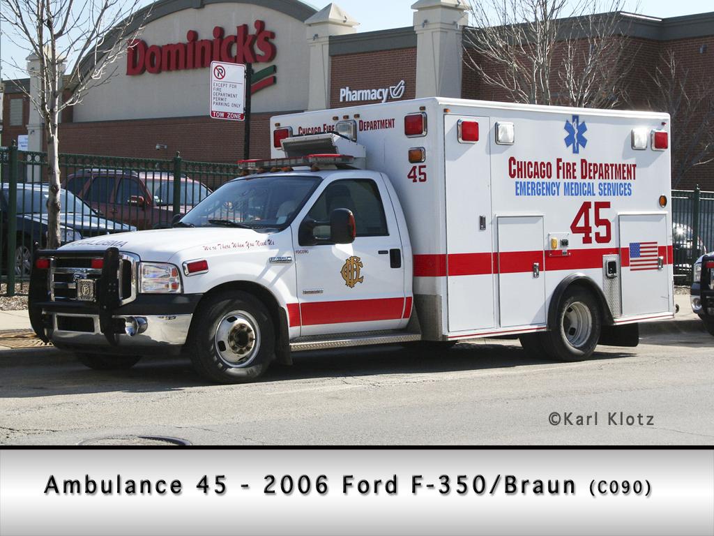 Chicago Fire Department Ambulance 45 Braun