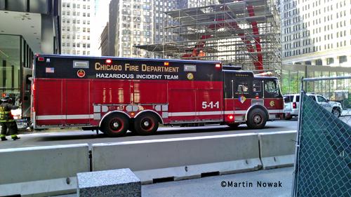 Chicago Fire Department haz mat response