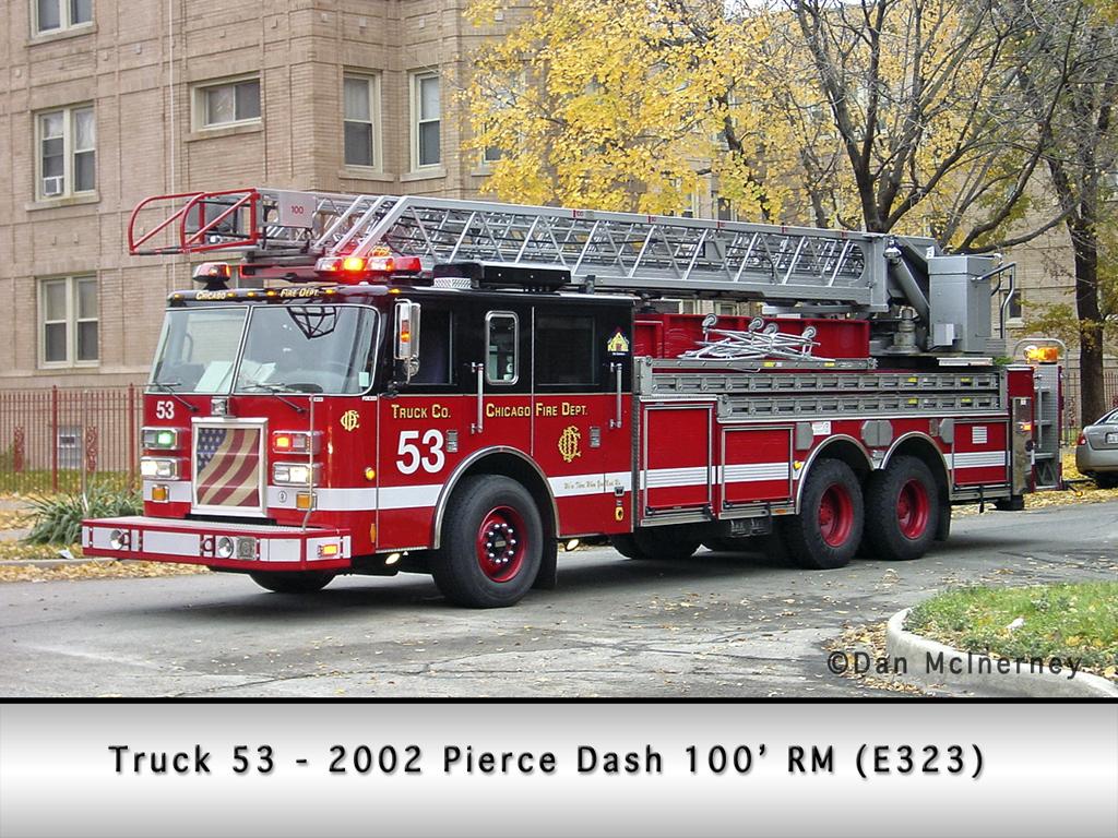 Chicago Fire Department Truck 53 Pierce Dash