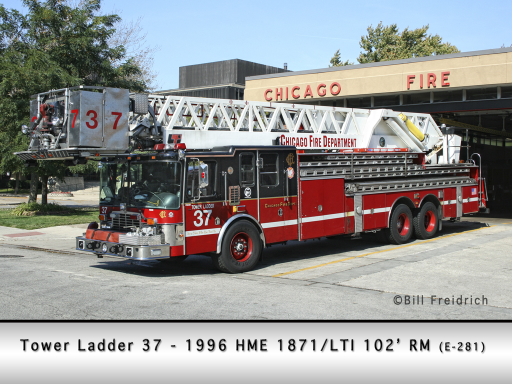 Chicago Fire Department Tower Ladder 37 HME LTI