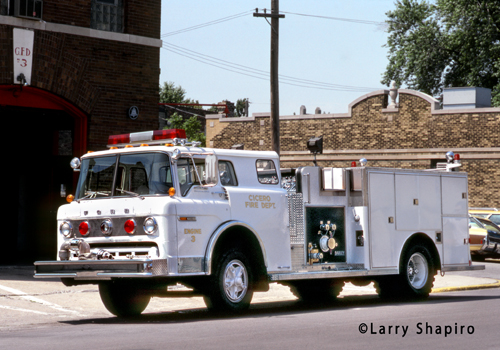 Cicero Fire Department Engine 3 Ford C-8000 Darley engine