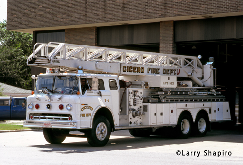 Cicero Fire Department Ford Grove aerial ladder