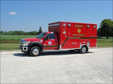 Zion Fire Department ambulance