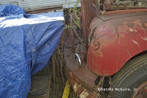 rusting  Chicago Fire Department Mack B-95 fire engine