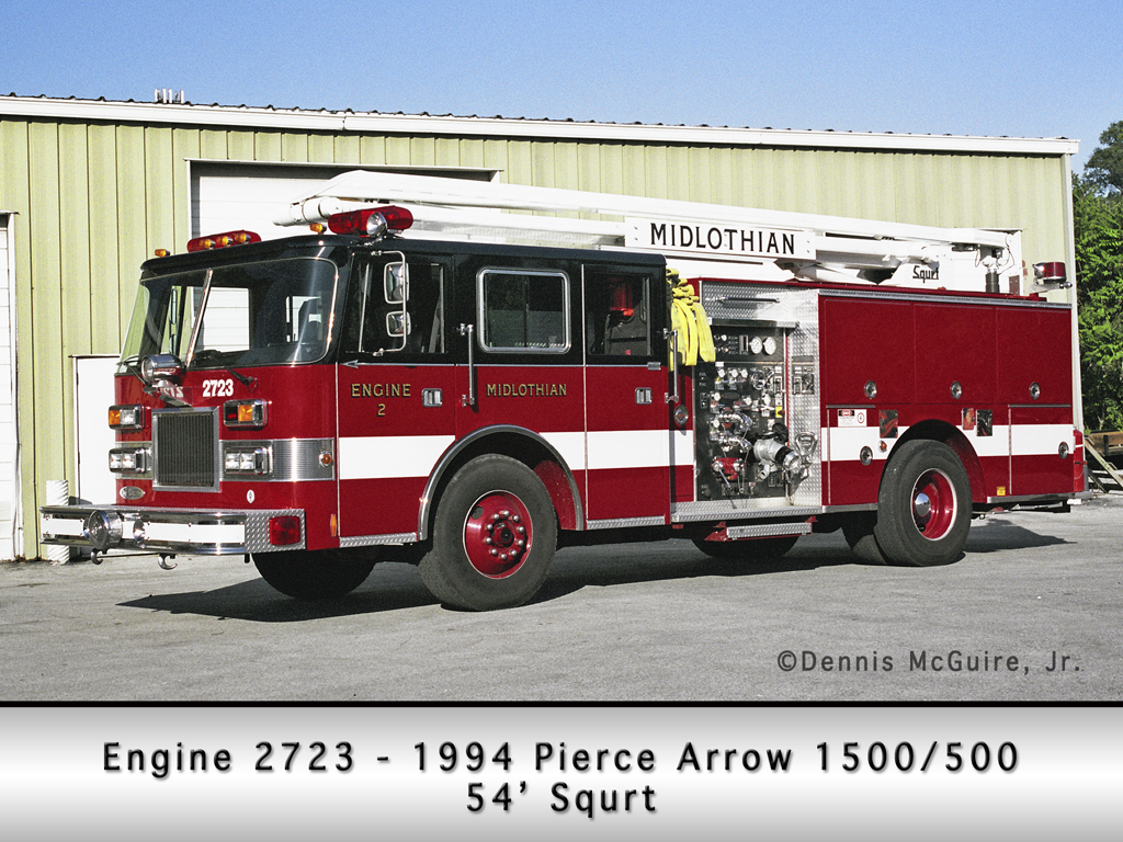 Midlothian Fire Department Engine 2723 Piece squrt