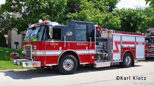 Midlothian Fire Department Engine 4 2011 Pierce Saber