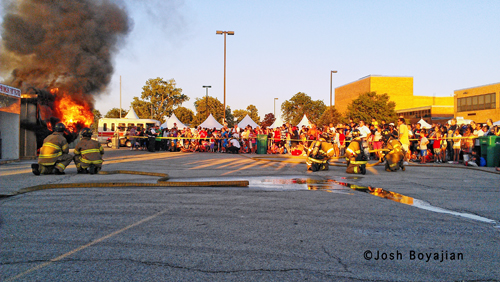 Berwyn Fire Department National Night Out - live fire demonstration