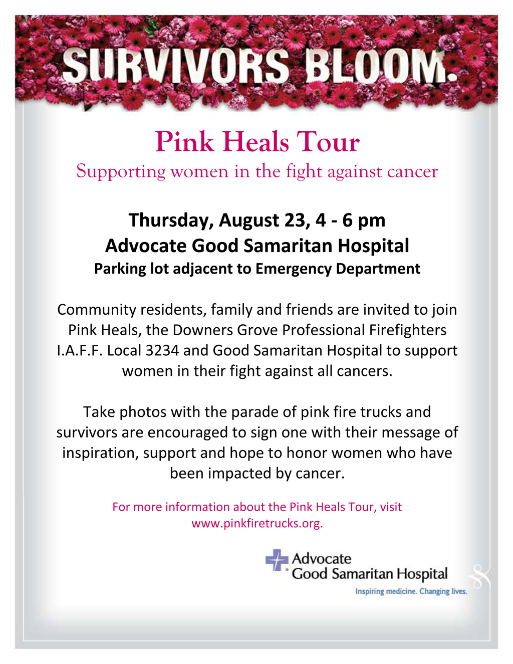 Pink Heals Tour in Downers Grove