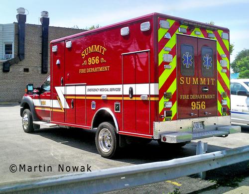 Summit Fire Department Ambulance 956 Wheeled Coach