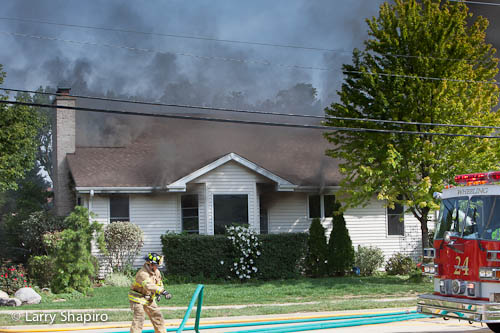 house fire on Strong Avenue in Wheeling 9-7-12