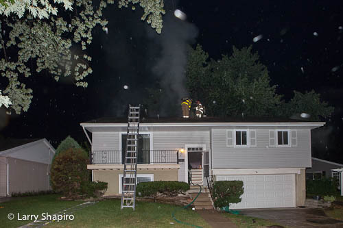 Buffalo Grove Fire Department house fire 9-14-12 at 647 Evergreen Place