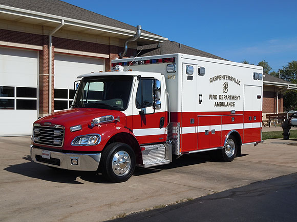 Carpentersville Fire Department ambulance