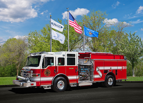 Pierce Velocity pumper for McHenry Township FPD
