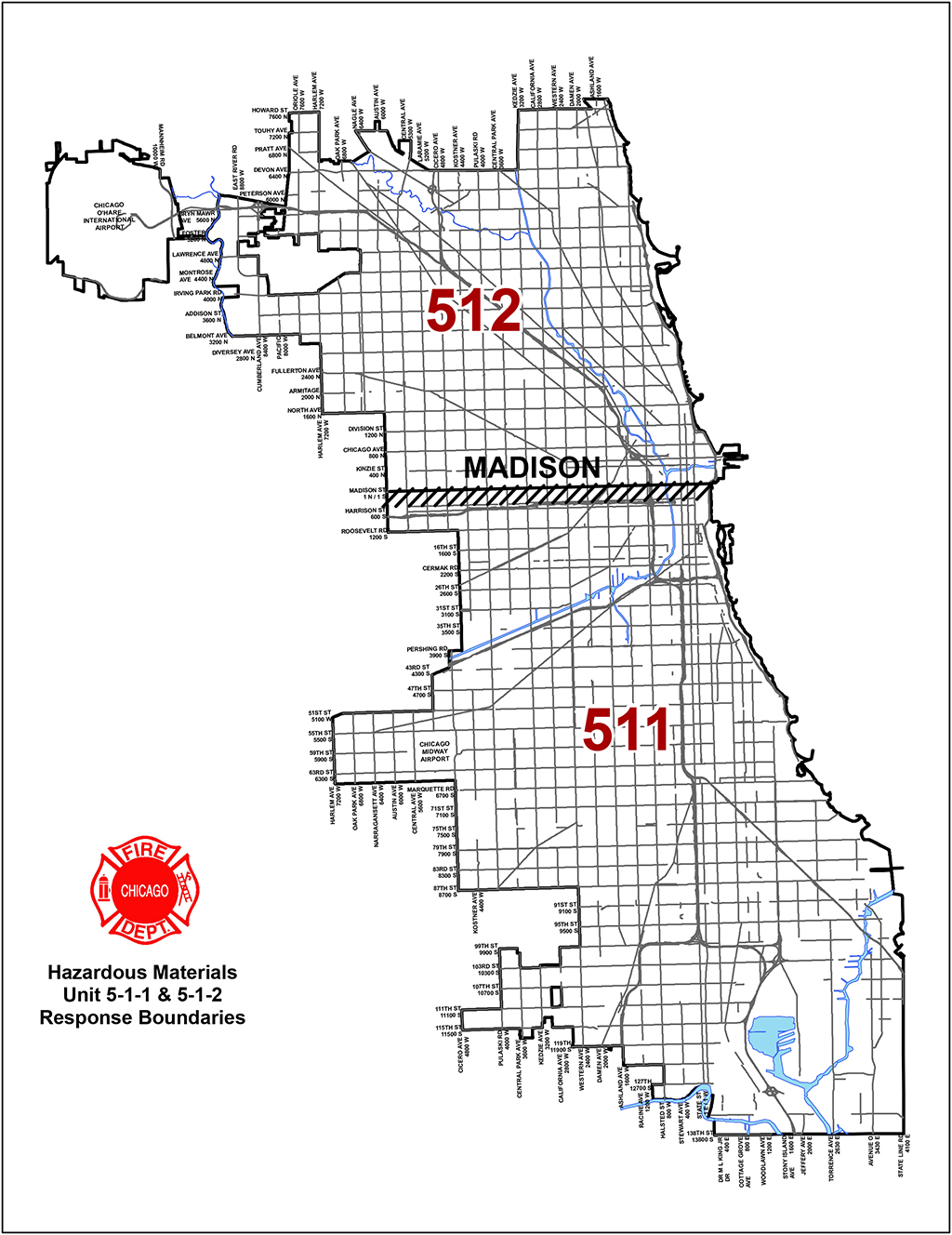 Chicago Fire Department Haz Mat Unit District Boundaries