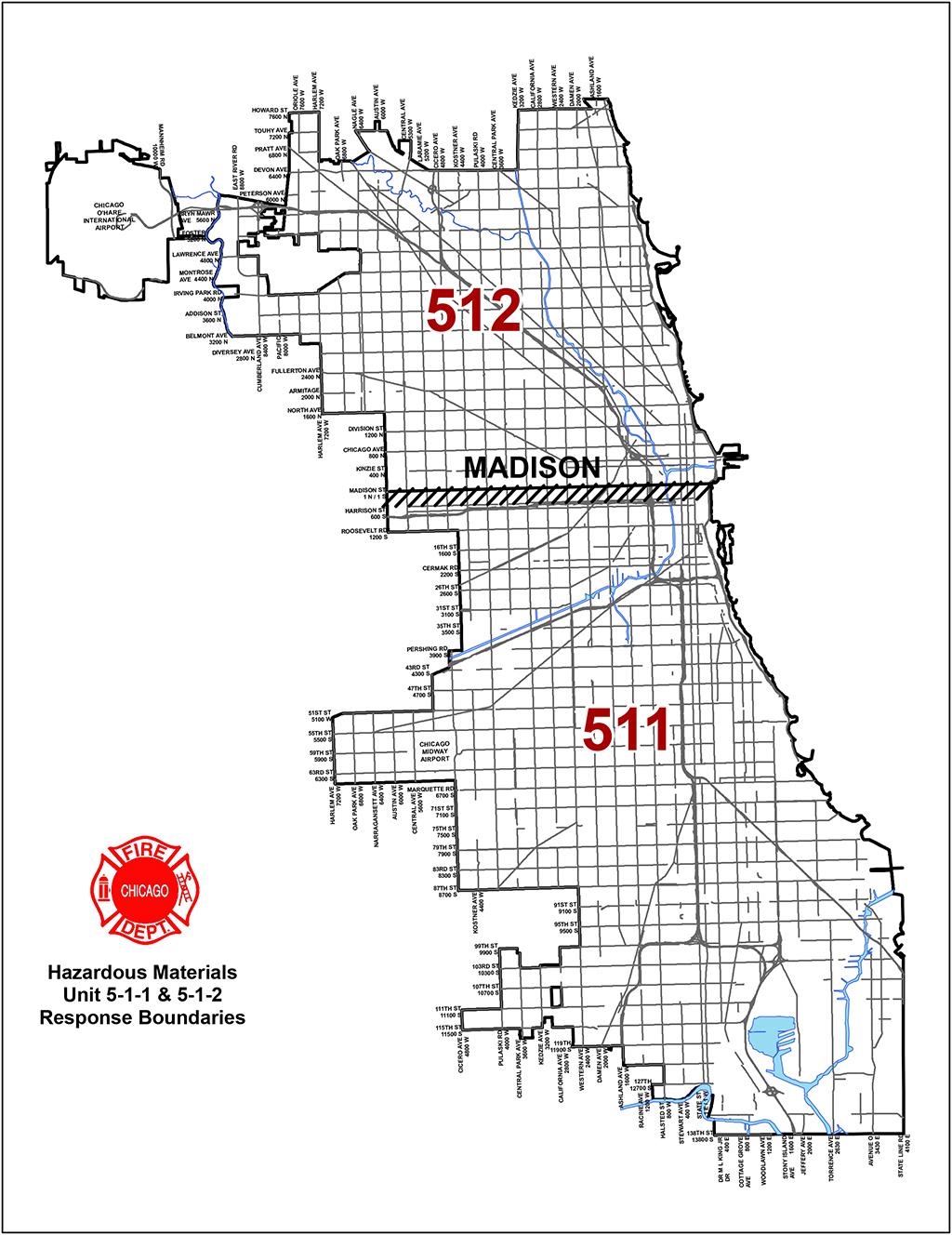 Chicago Fire Department Haz Mat Unit District Boundaries