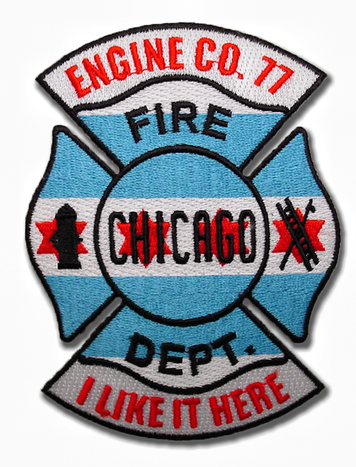 Chicago Fire Department Engine 77's company patch