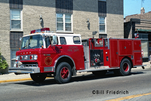 Cicero Fire Department 1981 Ford Darley fire engine
