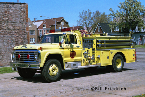 Cicero Fire Department 1978 Ford Howe fire engine lime green